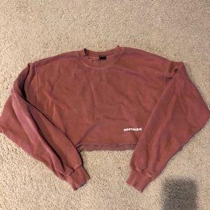 Urban outfitters crop nostalgic sweatshirt